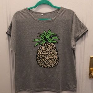 Tops - Grey Pineapple shirt 🍍